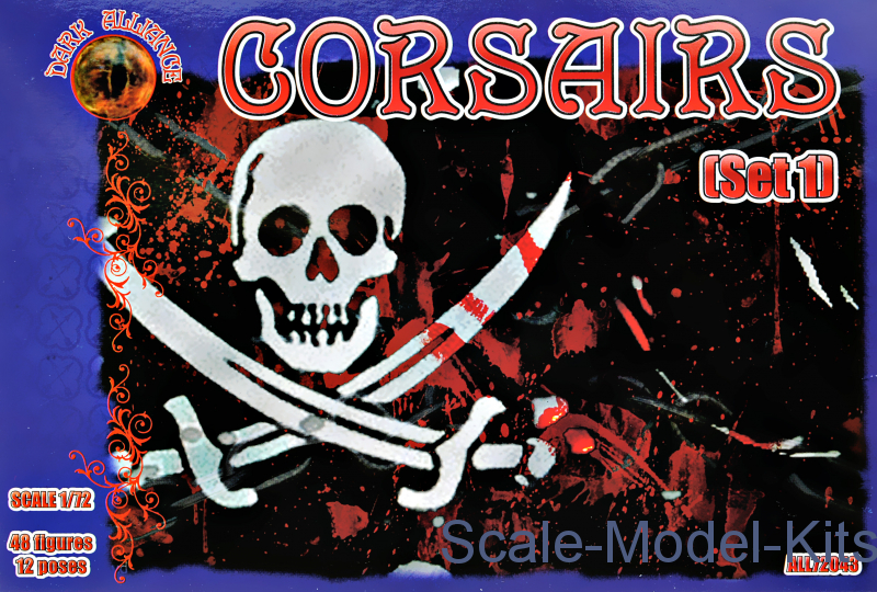 Corsairs, set 1-Alliance plastic scale model kit in 1:72