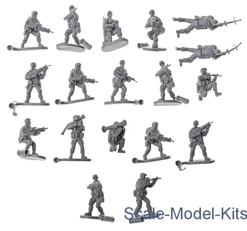 Modern US Elite Force-Caesar Miniatures plastic scale model