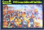 CMH077 1/72 Caesar Miniatures H077 - WWII German Soldiers with Tank Riders