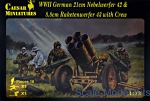 CMH093 WWII German 21cm Nebelwerfer 42 and 8,8 cm Raketenwerfer 43 with crew