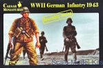 WWII German: 1/72 Caesar Miniatures M7711 - German Infantry 1943, Caesar Miniatures, Scale 1:72