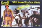WWII German: 1/72 Caesar Miniatures M7713 - German Africa Corps Infantry, Caesar Miniatures, Scale 1:72