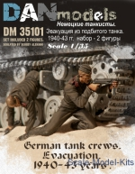DAN35101 German tank crew. Evacuation, 1940-43 (2 figures)