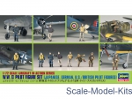 HA35008 WWII Pilot Figure Set (Japanese, German, US / British)