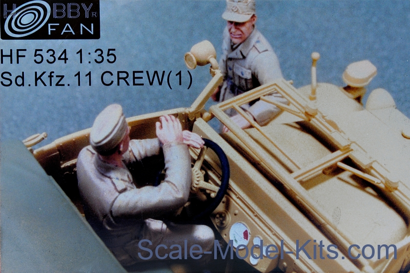 Sd.Kfz. 11 crew, set 1 (resin)