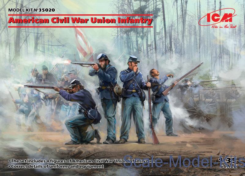 American Civil War Union Infantry (4 figures)