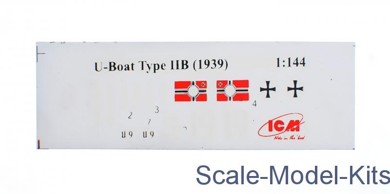1939 German Submarine 1:350 Plastic Model Kit ICM U-Boat Type IIB