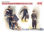 ICM35614 German Armoured Vehicle Crew 1941-1942, (4 figures and cat)