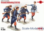 ICM35682 French Infantry (1914), (4 figures)