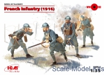 ICM35691 French Infantry 1916, 4 figures