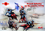 ICM35705 French Infantry on the march (1914) (4 figures)