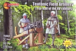 Knights (middle ages): Teutonic field artillery (1-st half of the XV century), Mars Figures, Scale 1:72