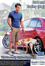 MB24049 What he really thinks of your car. Bart and Radley (dog)