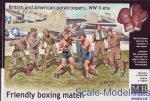 MB35150 Friendly boxing match. British and American paratroopers