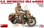 MA35172 U.S.Motorcycle WLA with rider
