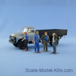 NS-F-43018-p Set of mechanics (drivers) (4 resin figures)