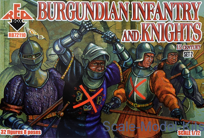Burgundian infantry and knights 15 century, set 2
