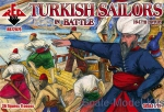 RB72079 Turkish sailors in battle, 16-17th century