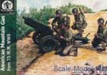 WL-AP038 WWII U.S. artillery crew with 75mm gun